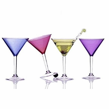 Colorful Acrylic Martini Glass