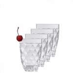 Harlequin Faceted Acrylic Double Old Fashion Acrylic Tumbler (each)