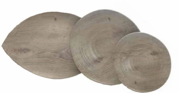 "Driftwood-Look Melamine Dinnerware and Platter <font color=""red"">SALE</font>"