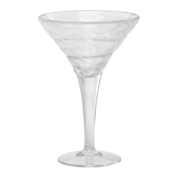 Frost-Look Acrylic Martini Glass