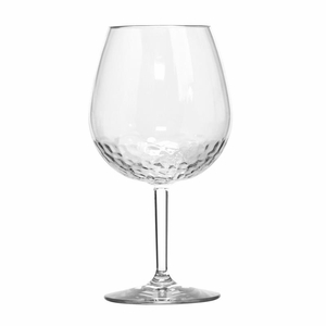 Hammered-Look Acrylic BPA Free Unbreakable Classic Bubble Wine Glass