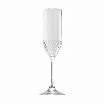 Hammered-Look Acrylic BPA Free Unbreakable Classic Champagne Glass