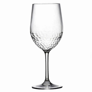 Hammered-Look Acrylic BPA Free Unbreakable Classic White Wine Glass
