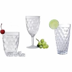 Harlequin Faceted Acrylic Glassware