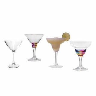 Indoor/Outdoor Acrylic Martini & Margarita Glasses