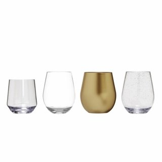 Indoor/Outdoor Stemless Acrylic Wine Glasses