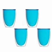 Keep-Kool Double Wall Insulated Blue Acrylic Cup (Each)