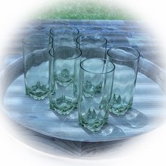 Light Green Acrylic Tumblers Set/6