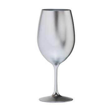 Metallic Silver Acrylic Red Wine Glass