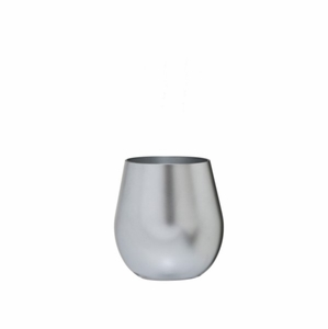 Metallic Silver BPA-Free Tritan™ Acrylic Stemless Wine Glass