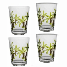 Palm Tree Acrylic DOF Tumblers Set/4