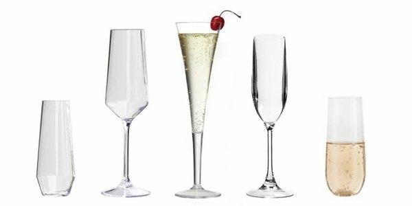 Indoor/Outdoor Acrylic Champagne Glasses