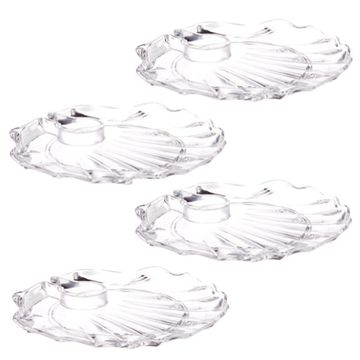 Shell Acrylic Wine 'N Dine Party Plate