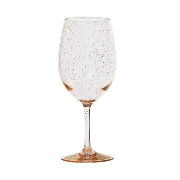Unbreakable Gold Glitter Wine Glass