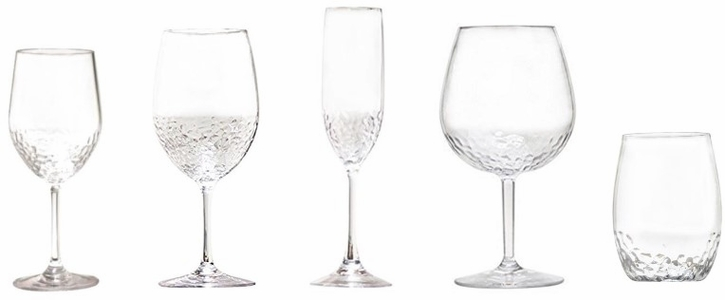 "Hammered-Look Unbreakable Wine Glasses <font color=""maroon""><b>SALE!</b></font>"