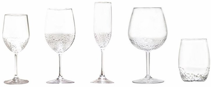 Hammered-Look Unbreakable Tritan™ Wine Glasses