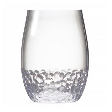 Tritan™ Hammered Unbreakable Stemless Wine Glass