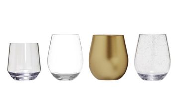 Acrylic & Tritan™ Stemless Wine Glasses