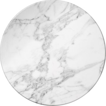 White Marble-Look Melamine Serving Tray/Cheese Board