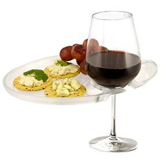 Wine 'N Dine Party Plate Clear