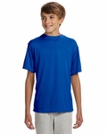 A4 Youth T-Shirt: 100% Polyester Interlock Cooling Performance Short Sleeve (NB3142)