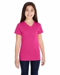 Girls V-Neck Fine Jersey T-Shirt