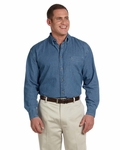 Men's 6.5 oz. Long-Sleeve Denim Shirt: (M550)