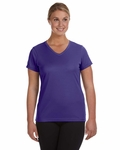 Ladies' Moisture-Wicking V-Neck T-Shirt: (1790)