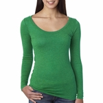 Next Level Women's T-Shirt: Tri-Blend Long Sleeve Scoop Neck (6731)