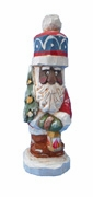 African American Santa Claus with Lantern