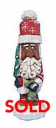 African American Santa Claus with Tree