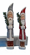 Belsnickle Santa Claus Wood Carvings