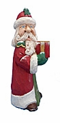 Collectible Hand Carved Santa Claus #18050