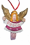 Folk Art Angel Christmas Tree  Ornament
