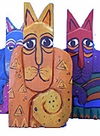 Flat Cats:  Cat Lover Gifts and Collectible Art