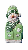 Wooden  Irish Snowman Decoration