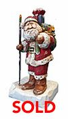 Wood Kriss Kringle with Christmas Sack