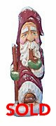 Old World Santa Claus woodcarving - Sold
