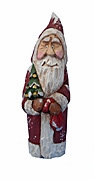 Hand Carved Wood Old World Santa Claus #18110