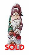 Hand Carved Wood Old World Santa Claus