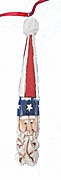 Wood Patriotic Christmas Ornament #17228