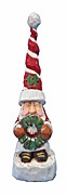 Tall Hat Santa Claus with Wreath
