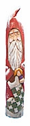Santa Claus with Stocking Wood Carving #14153