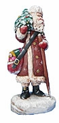 Christmas Traveler Santa Claus Sculpture #19002