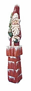Carved Santa Claus with Christmas Tree #17203