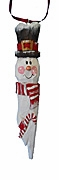 Snowman Ornament with Candy Cane