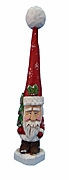 Tall Hat Santa Claus Woodcarving