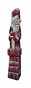 Pencil Santa Claus Woodcarving with Doll #18087