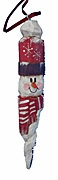 Wood Snowman Folk Art Christmas Ornament