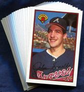 1989 Bowman Atlanta Braves Baseball Card Singles